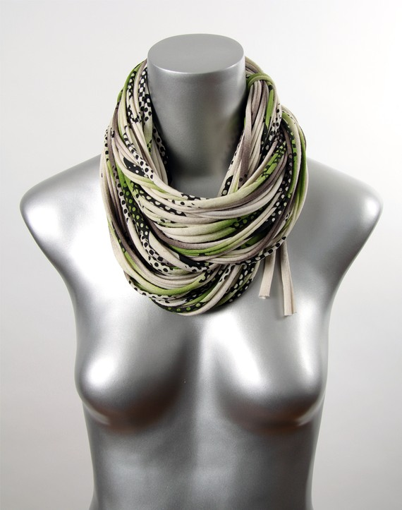 Dots  Infinity Circle Cowl Neck Scarf by Necklush  Patent Pending Cowl Neck Scarves Men